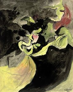 'Cliff road' (1940) by Graham Sutherland, O.M.