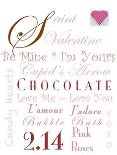 Subway Sign Art for Valentine's Day by WellNestedDesign on Etsy, $30.00