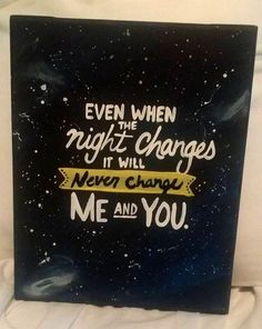 Night Changes - One Direction - Lyrics Art