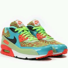Details about [724882 300] NIKE AIR MAX 90 PREMIUM ANNIVERSARY GS SHOES FLASH LIME BLACK GYM