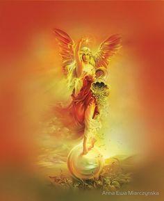 fortune angel goddess abundance wealth balance riches horn of plenty strenght fengshui prosperity power blessing success symbol money giclee Horn Of Plenty, Emerald Lake, Oil Painting On Canvas, Abundance, Horns, Giclee Print, Original Paintings, Fine Art, Art Prints