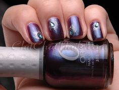 ChitChatNails » Blog Archive » KKCenterHk Silver Peacock Feathers