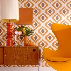 Die wilden 70er  Starke Muster, intensive Farben, futuristisches Design – die…