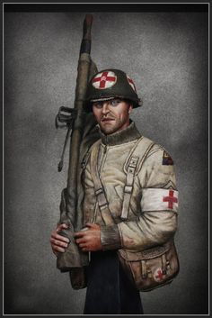 Army Medic, Combat Medic, Military Figures, Military Weapons, Ww2 Pictures, Korean War, American Soldiers, Armed Forces, Punisher