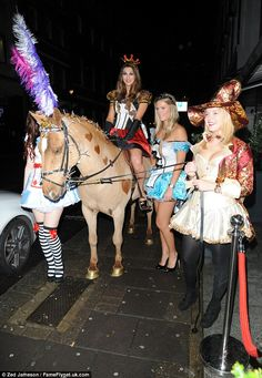 Fancy dress: Wednesday night was all bout fun as guests arrived in costume for Luisa Zissman's Mad Hatter themed launch party in London