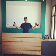 Downtown Campbell: This is his Half way done with the desk pose. Up next opening day! #flexfusionbarre #yoga #downtowncampbell #flexfam #thankyou !! by flexfusionstudios