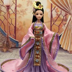 (47.90$)  Watch now  - New Handmade 33cm Chinese Ancient-Costume New Moon Princess Doll Moveable 12 Jointed 1/6 Bjd Dolls Girl Toys Birthday Gifts
