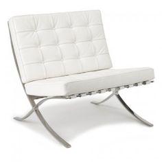 Barcelona stoel (wit) | Designerstoelen.nl