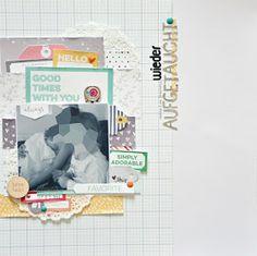 Bunterpinguin: Scrapbooklayout mit Elle's Studio Scrapbooksketch