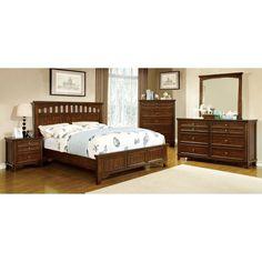 Furniture of America Purpura Panel Bed Set
