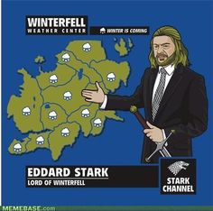 Weatherman Eddard....Winter is coming!