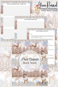 Enter the world of Narnia with your kids as you complete this Prince Caspian Book Study as part of your homeschool. #ChroniclesofNarnia #TheChroniclesofNarnia #Narnia #LiteratureStudy #BookStudy #Literature #Books #Printable #Reading #Read #Homeschool #Homeschooling #YearRoundHomeschooling