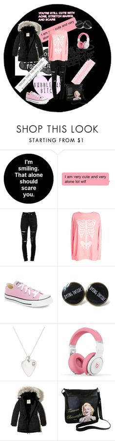 """""""Untitled #48"""" by emo-like-always ❤ liked on Polyvore featuring Yves Saint Laurent, Wildfox, Converse, Ann Dexter-Jones, Nicki Minaj, Hollister Co. and Marilyn Forever Beautiful"""