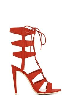 Kippy strappy red sandals from @justfabonline #fabshionista