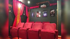 This Regular Tool Shed Was Renovated Into A Glamorous Movie Theatre
