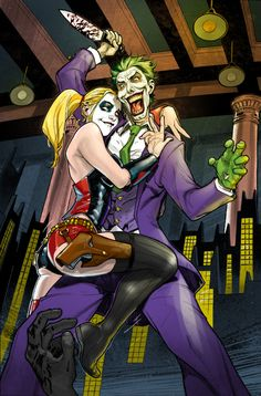 Redskull's Page - helter_shelter_harley_quinn_and_joker__colors__by_tinsdar