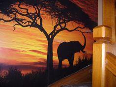 słonik na ściane