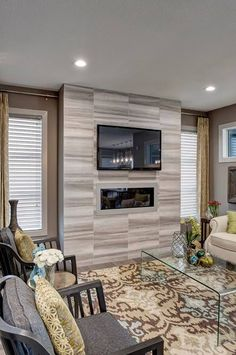 Fireplace tile Fireplace Stone, Fireplace Ideas, Fireplaces, Union City, Fireplace Remodel, Fire Heart, Tile Installation, Living Room With Fireplace, Great Rooms
