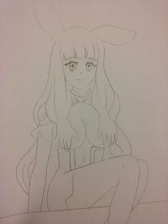 Melona Sitting Queens Blade Pencil Drawing#myartwork