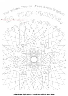 Lindisfarne Scriptorium, the Gallery : In My Name - Multicoloured Meditations - Downloadable / Printable - Colouring Sheet [MC-1537] - £4.00,