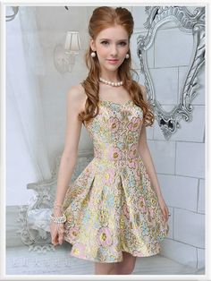 Mango Doll - Floral Jacquard Dress, $69.99 (http://www.mangodoll.com/all-items/floral-jacquard-dress/)