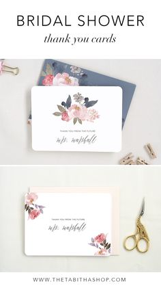 For the bride who loves handwritten notes, these sweet cards are perfect to thank all those lovely people in her life!