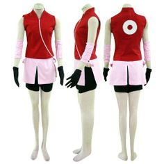 Dream2Reality Japanese Anime Naruto Cosplay Costume -Haruno Sakura 2nd Ver Kid Size Large Dream2Reality. $47.23. Save 32% Off!