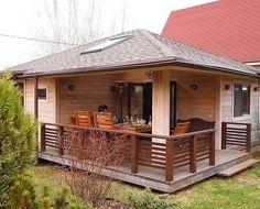 Bamboo House Design, Small House Design, Small Tiny House, Tiny House Plans, Rest House, Cozy House, Facade Design, Exterior Design, Sauna House