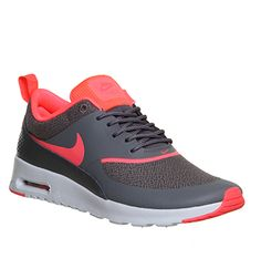 Nike Air Max Thea Dark Grey Hyper Punch - Hers trainers @ OFFICE.com