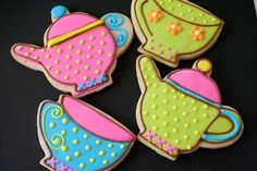 Art Tea Party Birthday Cookies tea-party-birthday-party-for-a-6-year-old