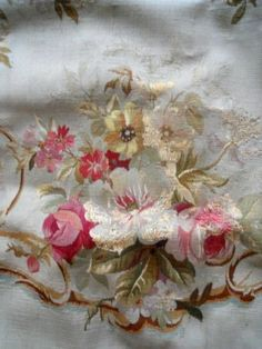 Number 5 Larg ANTIQUE FRENCH AUTHENTIC AUBUSSON TAPESTRY PETITPOINT 1850
