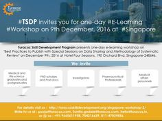 #TSDP, an initiative by #TuracozHealthcareSolutions, calls #MedicalAndHealthcareProfessionals, & #Ph.D scholars for an #ELearningWorkshop on the best practices to publish, #DataSharing and #SystematicReviews. To get more info plz write to us at hello@turacoz.in, pooja@turacoz.com and call us 011-47039856.
