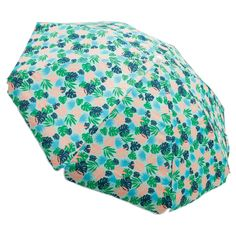 Relax-the 6' Beach Umbrella - Patterned has you covered in cool shade, beach-side or pool-side. The easy-to-lift push-up style makes it fast for you to set up and get into the water. Push-button tilt lets you follow the sun for shade all day. Swim. Sit. Stay.