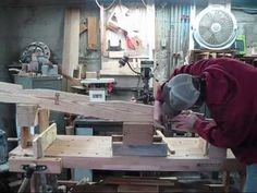Cutting multiple bird mouths - YouTube