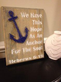 Anchor Nail & String Art on Etsy, $45.00