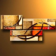 Santin Art - 3 Pics Abstract Paintings Modern Art Oil Painting on Canvas Wall Art Deco Home Decoration Santin Art,http://www.amazon.com/dp/B009PFYYI0/ref=cm_sw_r_pi_dp_JKCgtb0VP0J63GH3