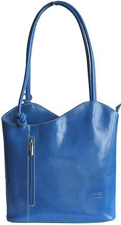 Multi-Way Blue Leather Shoulder Bag/Backpack  $50