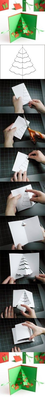DIY Christmas Tree Pop Up Card DIY Christmas