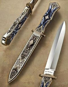 Engraved knife and sheath