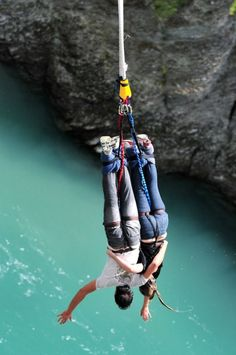 Wild Outdoor Activities You Should Have on Your Bucket List Tandem bungy jumping in New Zealand - something crazy to do together for all the thrill seeking couples out there. Bungee Jumping, Tandem, Adventure Awaits, Adventure Travel, Adventure Photos, Adventure Style, Kayak, Before I Die, Adventure Is Out There