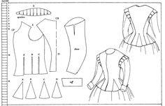 1610 waistcoat- Museum of London diagram