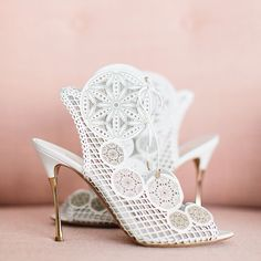 Gorgeous Nicholas Kirkwood #bridal heels WedLuxe Magazine