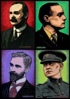 James Connolly, Pádraig Pearse, Sir Roger Casement and Michael Collins –Jim Fitzpatrick Gallery Roger Casement, Ireland 1916, Jim Fitzpatrick, Michael Collins, Rebel Heart, Celtic Fc, Irish Roots, Fighting Irish, Joker