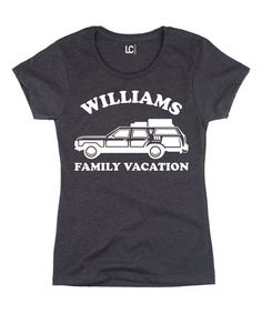#hauserama Look at this #zulilyfind! Heather Charcoal 'Family Vacation' Personalized Crewneck Tee #zulilyfinds