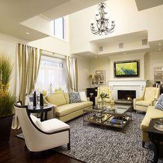 ♛ Regina Sturrock Design ~ Contemporary Living Room #Home #Interior #Design #Decor ༺༺  ❤ ℭƘ ༻༻