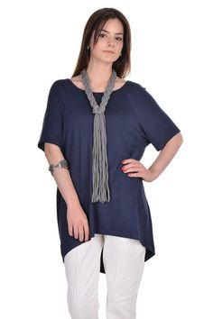 5e442478d72 Loose Casual Tunic   Navy blue woman tunic  Maxi woman tunic  Plus size  tunic  Dark blue woman blouse  short sleeved blouse  summer blouse