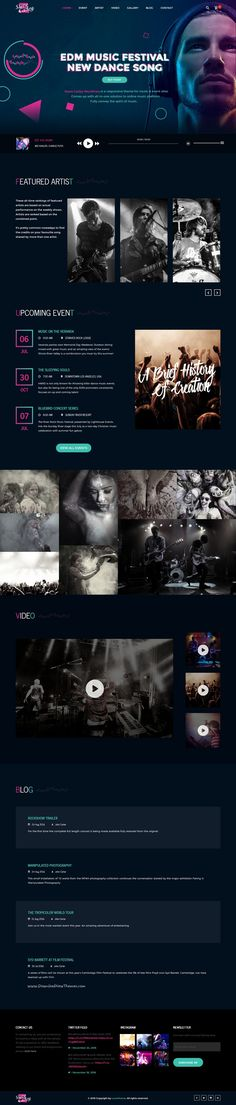 Steve Cadey - WordPress Music Theme For Musicians, DJs, Bands and Solo Artists Music Drawings, Music Artwork, Free Music Websites, Music Sites, Edm Music Festivals, Band Website, Music Backgrounds, Website Design Inspiration, Layout Design