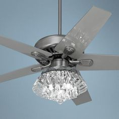 "52"" Windstar II Steel Crystal Light Kit Ceiling Fan  Style # 34053-66116-V5824  - $329.95 at LampPlus"