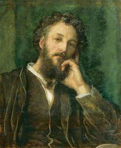 George Frederic Watts (English, 1817-1904),Portrait of Frederic Leighton,1871.