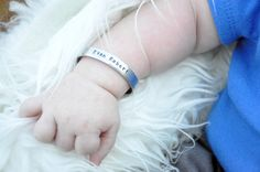 Baby Boy Hand Stamped Personalized Bracelet - Hand Stamped Baby Bracelet - Baby Cuff Bracelet - Personalized Kids - Baby Shower Gift by MotherDaughterJewel on Etsy